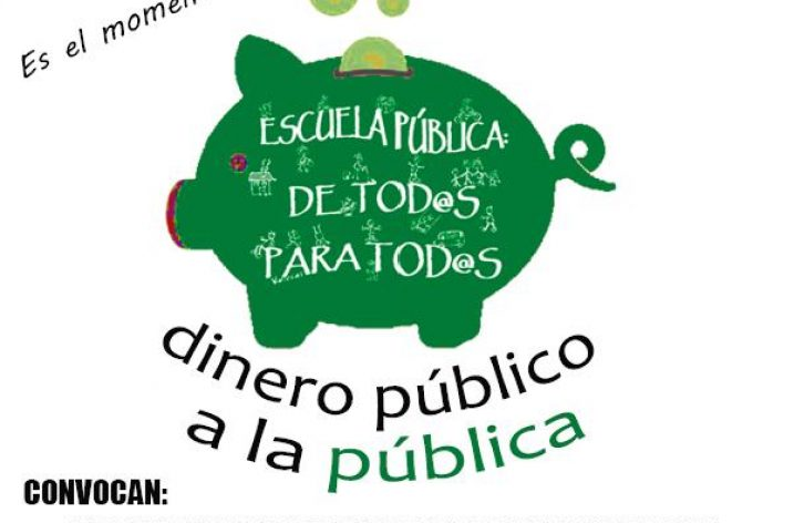"""Manifestación 14  de diciembre """"Dinero público a la pública"""""""