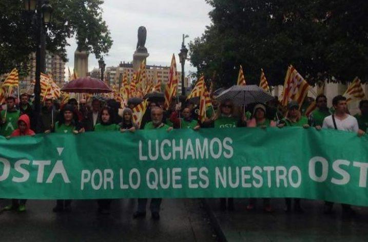 Manifestación contra el robo de las pensiones