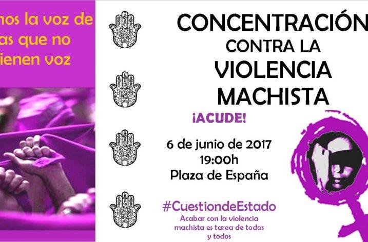 Concentración contra la violencia machista el próximo martes 6 de junio