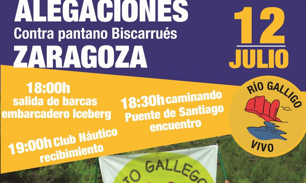 Acto en Zaragoza contra el embalse de Biscarrués