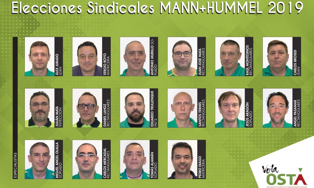 El jueves 7 se celebran las elecciones sindicales de MANN+HUMMEL