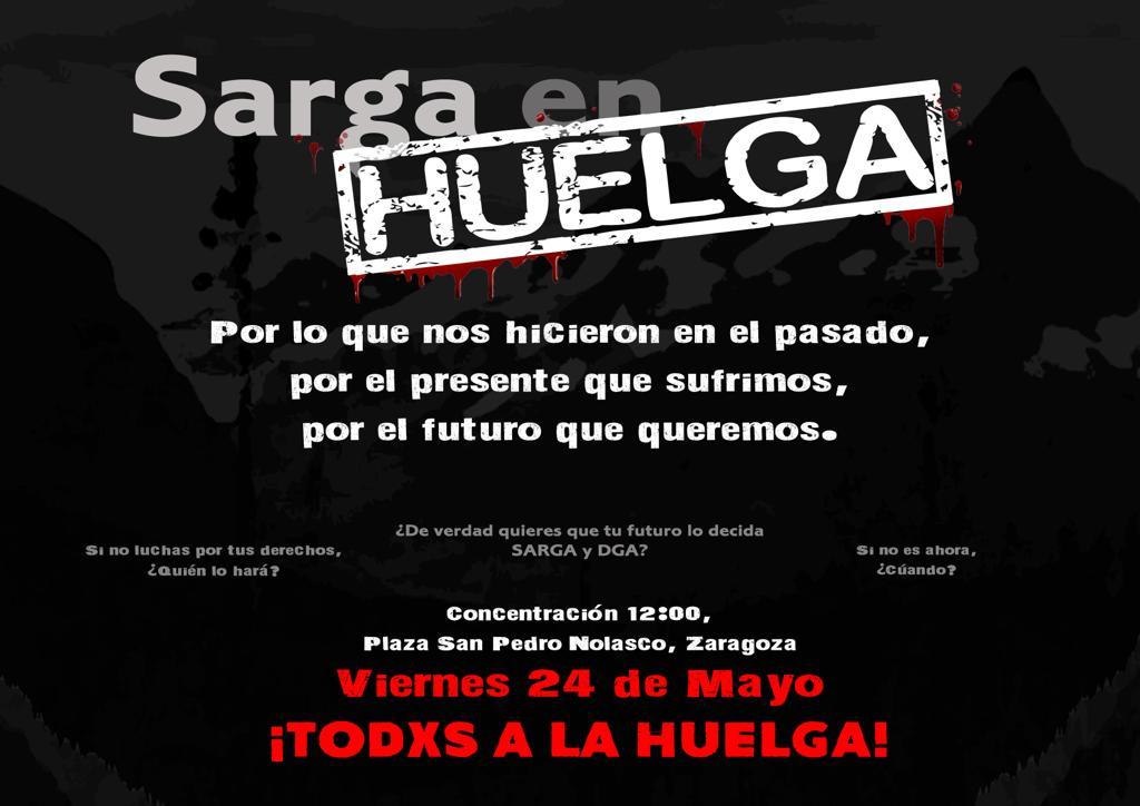 Los trabajadores y trabajadoras de SARGA irán a la huelga
