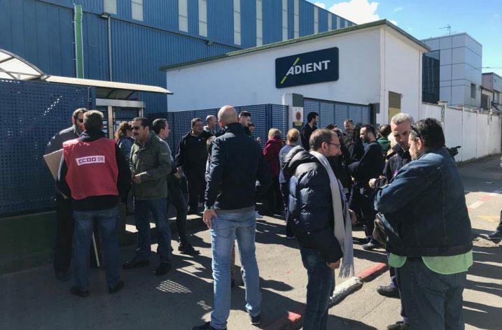 El Comité de empresa de Adient Alagón convoca huelga para los días 25,26 y 27 de Junio