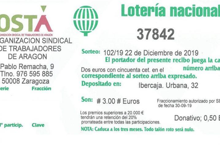 Loteria de Navidad de OSTA