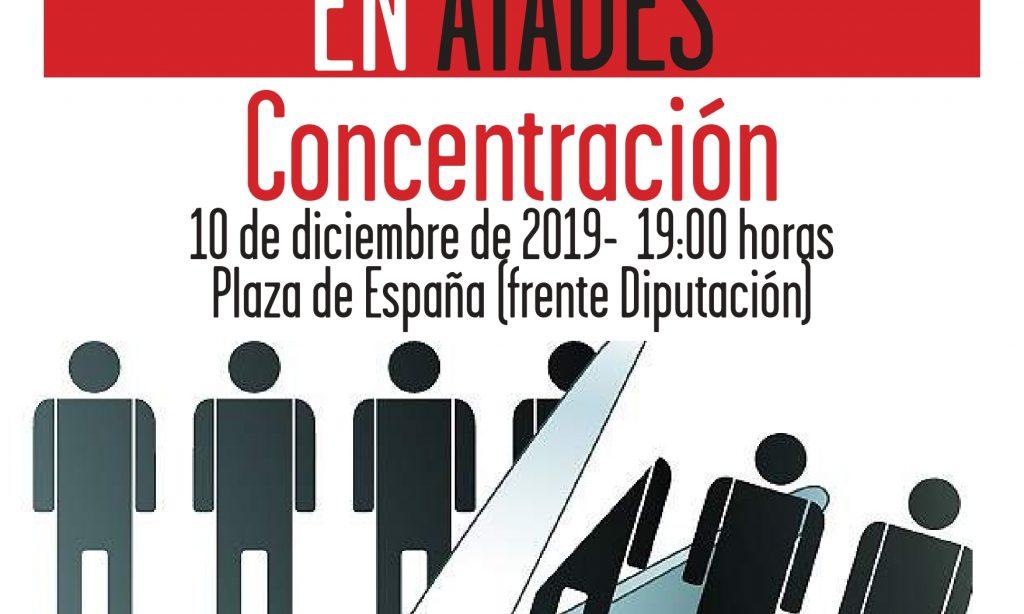 La plantilla de ATADES se moviliza contra los despidos y recortes en la empresa
