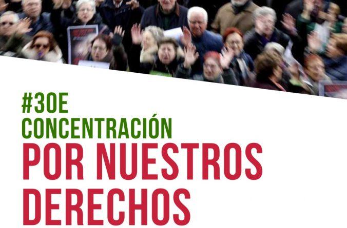 Concentración 30 de enero: Por nuestros derechos